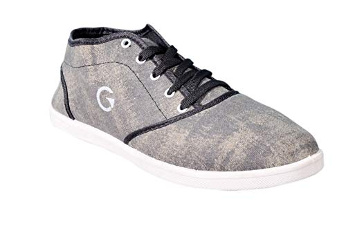 6d6c957dcda Globalite Men s Canvas Casual Shoes (Grey