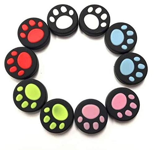 Pcs mixed color Silicone Thumb Grips Stick Handle Rocker Protective Case for PS4 PS3 PS2 Xbox One/360 /Game Controllers Cat Paw ()