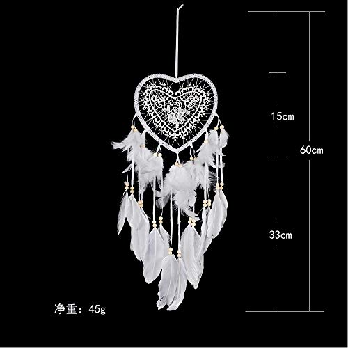 Gotian 60cm/23.62in Handmade Dream Catcher Feathers Owl Wall Car Hanging Decoration Girls Room Home Ornament ()