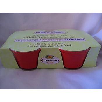 Amazon.com: Le Creuset Poterie French Ramekins, Set of 4 Red, 4 3/4 ...