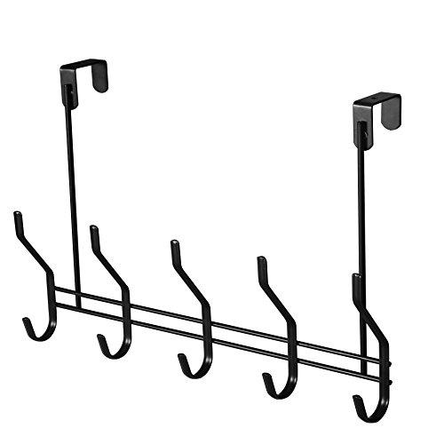 WEBI Over The Door Hook, Hook Hanger Heavy Duty Coat Rack, Great Home Storage & Organization Towels,Coats,Hats, Scarves, Purses, Black by WEBI (Image #1)