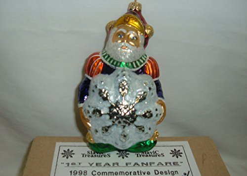 Slavic Treasures 1st Year Fanfare 1998 Commemorative Christmas Ornament - RARE!!!