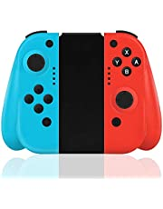 FiiMoo Wireless Controller für Nintendo Switch, 2er-Set Links Rechts Kabelloser Bluetooth Gamepad Joystick Controller Kompatibel mit Switch--Rot (R) & Blau (L)