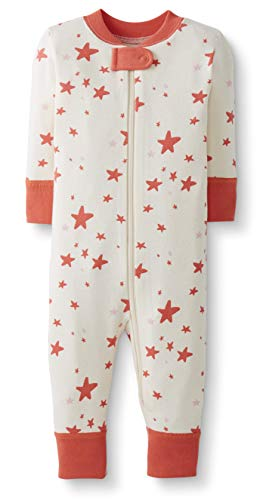 Moon and Back by Hanna Andersson Baby/Toddler One-Piece Organic Cotton Footless Pajamas, Coral Star, 3T from Moon and Back by Hanna Andersson