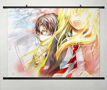 Wall Scroll Poster Fabric Painting For Anime Shigatsu Wa Kimi No Uso Kaori Miyazono Kousei