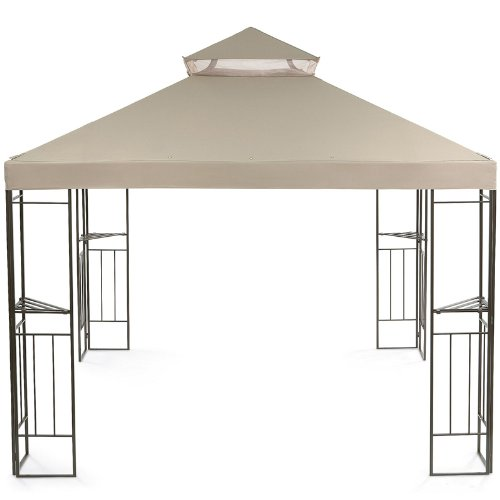 Jcp 2012 garden gazebo gazebo replacement canopy riplock for Outdoor furniture gazebo