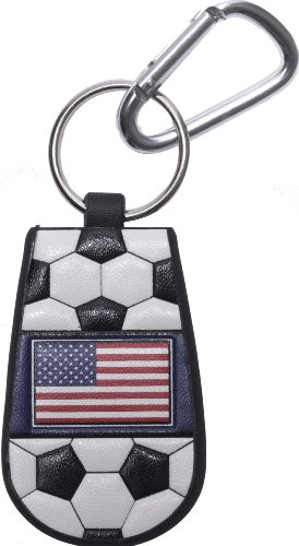 GameWear 4421401568 American Flag Classic Soccer Keychain - Leather Football Keychain Tag