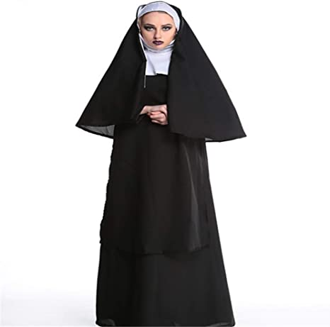 CHUAGNQI Traje del Funcionamiento de Halloween Virgen María Monja ...