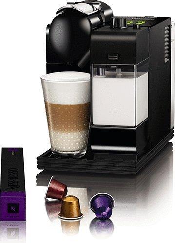 Nespresso Lattissima Plus Original Espresso Machine with Milk Frother by De'Longhi, Black