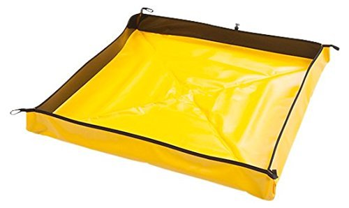 Aire Industrial 909-040404Y Go-Go Berm Portable Containment, 48'' x 48'' x 4'', Yellow (Renewed)