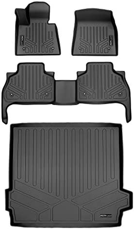 MAXLINER Custom Fit Floor Mats 2 Rows and Cargo Liner Behind 2nd Row Set Black for 2019-2021 BMW X5