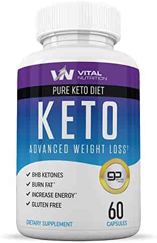 Pure Keto Diet Pills - Ketosis Supplement to Burn Fat Fast - Ketogenic Carb Blocker - Best Keto Diet Pills for Women and Men - Helps Boost Energy & Metabolism - 60 Capsules