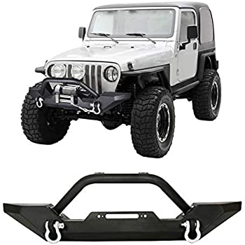 Rampage 8620 Tube Front Bumper Black for 1976-2006 Jeep CJ Wrangler /& Unlimited