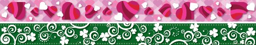 Hearts Border Trim - Barker Creek - Office Products Double-Sided Border Board, Hearts & Clover (LL-973)
