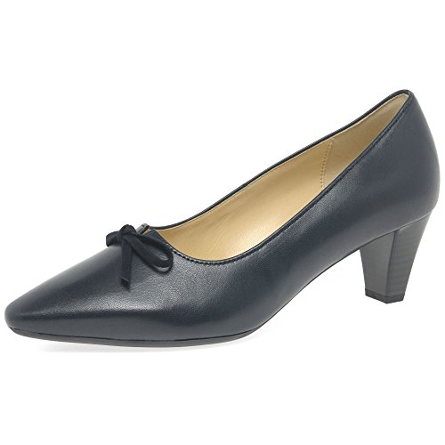 Arco de de Gabor 40 Corte Vestido Perla Zapatos Suede Leather UK EU Mujeres 5 Navy 6 qwqWnxUE4