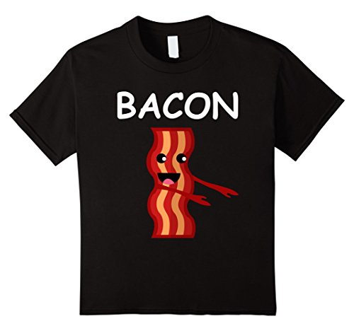 Kids Matching Halloween Shirt BACON and eggs Costume for Couples 12 Black (Best Friend Halloween Costumes For Girls)