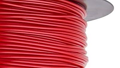 HATCHBOX Red PLA 3D Printer Filament - 1kg Spool (2.2 lbs) - Dimensional Accuracy +/- 0.03mm