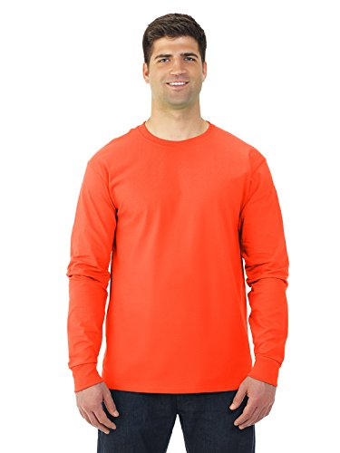 (Fruit of the Loom Adult 5 oz. Long-Sleeve T-Shirt, BURNT ORANGE,)