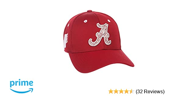 save off 7941c b9e94 Amazon.com   Zephyr NCAA Alabama Crimson Tide Men s Rambler Hat,  Medium Large, Team Color   Clothing