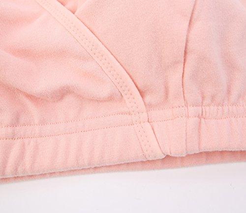 ZUMIY® Sujetador Premamá y de Lactancia para Mujer - Sujetadores Para Embarazadas Black+Orange pink/ 2Pack