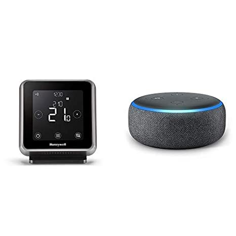 Echo Dot gris antracita + Honeywell T6R - Termostato programable inteligente inalámbrico: Amazon.es: Bricolaje y herramientas