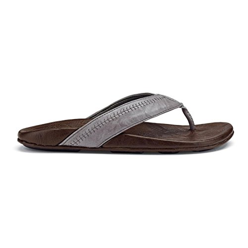 Olukai Hiapo Sandal - Hombres Grey / Seal Brown