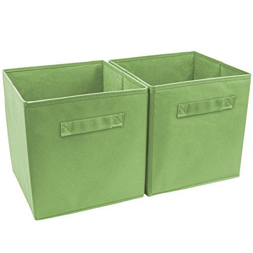 Sorbus Foldable Storage Basket Green