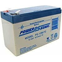 Power-Sonic PS-1290 12 Volt 9 Amp Hour Rechargeable SLA Battery (F2 Terminals) (2 Pack)