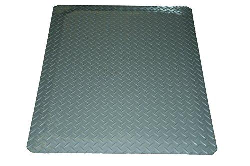 Rhino Mats DTT2496GRNS Diamond Plate Anti-Fatigue Mat with Rh-No-Slip, 2' Width x 8' Length x 9/16'' Thickness, Gray by Rhino Mats