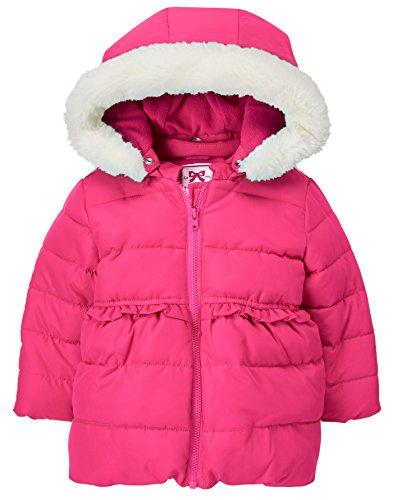 with Toddler Vibrant Girls' Faux Jacket 4T Trim Fur Gymboree Hood Pink wTxtqOx