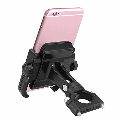 Universal Bike & Motorcycle Phone Mount, Lenmumu Adjustable Premium Bicycle Rack Handlebar Phone Holder, Compatiable iPhone X 7 | 7 Plus, 8 | 8 Plus, 6s | 6s Plus, Samsung (Bicycle Racks Motorcycles)