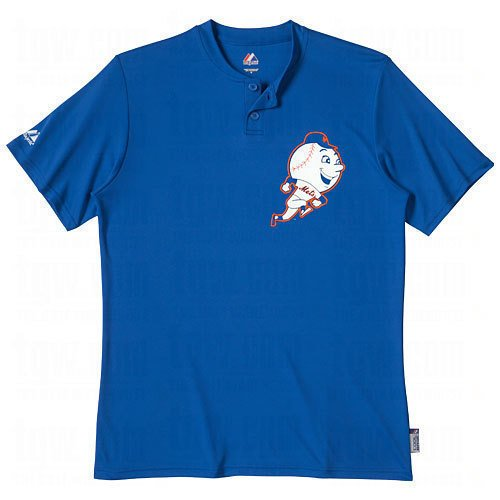 New York Mets Throwback Jersey - Majestic Two Button New York Mets Cool Base Throwback Small Youth Jersey