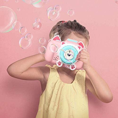Crabitin カメラ型シャボン玉 電動式シャボン バブルマシーン シャボン玉製造機 パーティー シャボン玉 子供のおもちゃ 誕生日 プレゼント 子供用 外遊び プール アウトドア お風呂おもちゃ