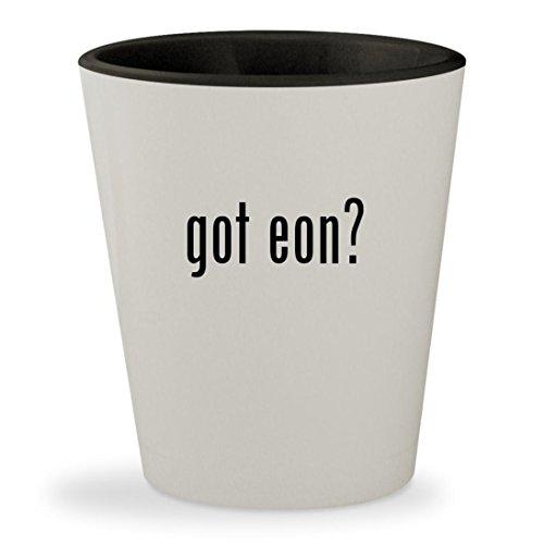 got eon? - White Outer & Black Inner Ceramic 1.5oz Shot Glass
