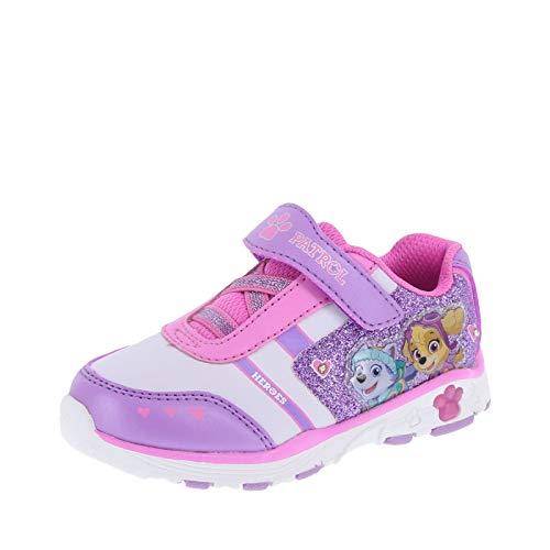 Patrol Sneaker Shoes - Nickelodeon Shoes Paw Patrol Girl's Purple Girls' Toddler Paw Patrol Lighted Runner Little Kid Size 11.5 Regular