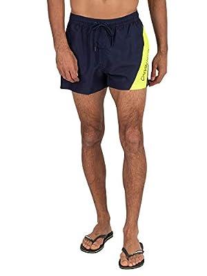 Calvin Klein Men's Short Drawstring Swim Shorts, Blue, M