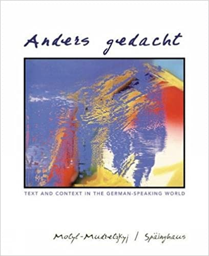 Anders Gedacht Text And Context In The German Speaking World 1st Edition