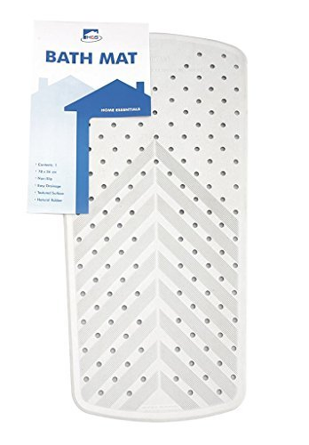 Thick Cream Rubber Extra Grip Long Suction Non Slip Bath Shower Mat Disability by Posh Porschey