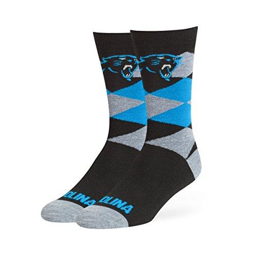NFL Carolina Panthers OTS Blaine Dress Sock, Black, Large