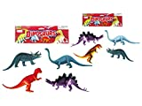 Papa N Me Store 4 Pcs Dragons & Toy Dinosaur (Family) T-Rex, Stegosaurus, Triceratops, Monoclonius Toy Fantasy Figure-2 Pack