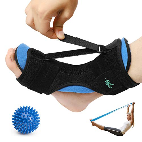 Plantar Fasciitis Night Splint for Plantar Fasciitis Pain Relief Sleep Support, Adjustable Dorsal Drop Foot Orthotic Brace for Women and Men Fits Right or Left Foot with Arch Support Socks (Universal)