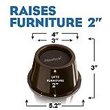 Slipstick CB654 2 Inch Lift Furniture Risers / Bed