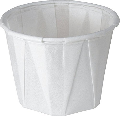 Solo 1.0 oz Treated Paper Souffle Portion Cups for Measuring, Medicine, Samples, Jello Shots, PK/250