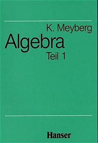 Mathematische Grundlagen für Mathematiker, Physiker und Ingenieure: Algebra, Teil 1