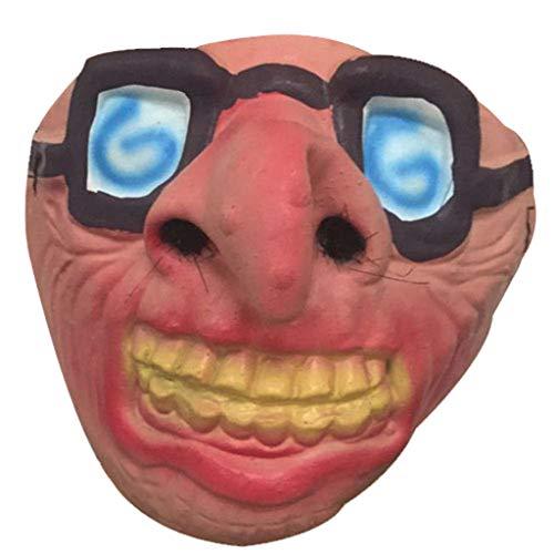 Kaniem Novelty Masks,FUUNY Animal Half Face Masks for Halloween Party Cosplay Mask Toys (Free,N)