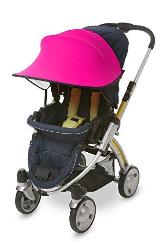 Manito Sun Shade for Strollers and Car Seats (Magenta) UPF 50+