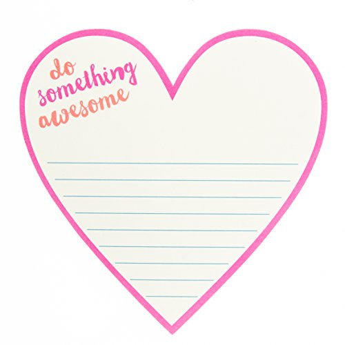 Heart Shaped Notepads - Graphique Awesome Heart Diecut Notepad, 6