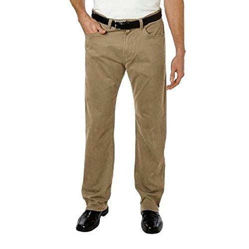 5 Pocket Cord Pant - Kirkland Signature Mens' 5-Pocket Bedford Cord Pant (British Khaki, 32W x 32L)
