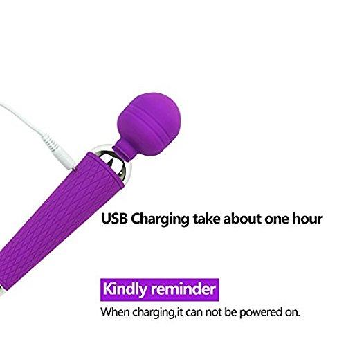 LIBO Mini Multi-Speed waterproof Therapeutic Wireless Power Wand vibrator Massager (Purple)
