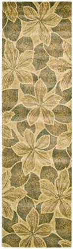 Nourison Chambord (CM14) Light Gold Runner Area Rug, 2-Feet 3-Inches by 8-Feet  (2'3